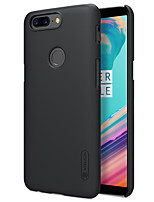 cheap -Case For OnePlus OnePlus 5T 5 Frosted Back Cover Solid Color Hard PC for One Plus 5 OnePlus 5T