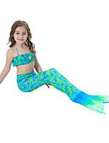 cheap -Girls' Cute Active Print Swimwear, Cotton Polyester Sleeveless Green