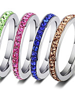 cheap -Men's Women's Band Rings Fashion Stainless Steel Jewelry Daily