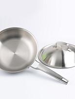 economico -Acciaio inossidabile Acciaio inossidabile Piatto Pan Pot multiuso,28*6.5
