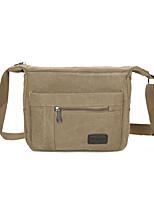cheap -Unisex Bags Canvas Crossbody Bag Zipper for Casual Office & Career All Season Green Black Coffee Khaki