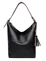 cheap -Women Bags PU Shoulder Bag Zipper Tassel for Outdoor Office & Career All Season Purple Gray Red Black