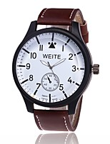 cheap -Men's Sport Watch Fashion Watch Wrist watch Chinese Quartz Large Dial Casual Watch PU Band Casual Black Brown Khaki