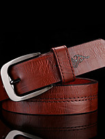 cheap -Men's Alloy Waist Belt,Camel Black White Brown Vintage Casual Vintage Style