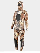 cheap -Men's 5mm Wetsuits Heat Retaining Neoprene Diving Suit Long Sleeves Diving Suits Spring, Fall, Winter, Summer Camouflage