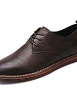 Недорогие -Для мужчин обувь Полиуретан Весна Осень Удобная обувь Туфли на шнуровке Сапоги выше колена для Черный Желтый Коричневый