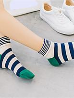 preiswerte -Damen Socken Baumwolle Gestreift Warm,2pcs Grün Rote