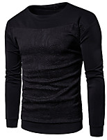 cheap -Men's Casual/Daily Sweatshirt Solid Print Round Neck Micro-elastic Cotton Long Sleeve Winter Spring/Fall