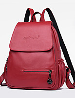 cheap -Women Bags PU Backpack Zipper for Casual Outdoor All Season Red Black Blue