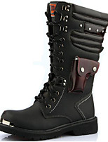 cheap -Unisex Shoes Synthetic Winter Fall Fashion Boots Motorcycle Boots Combat Boots Boots Mid-Calf Boots for Casual Party & Evening Black