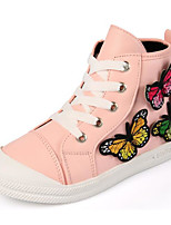 cheap -Girls' Shoes Synthetic Microfiber PU Winter Fall Comfort Sneakers for Casual Pink Black White