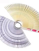 preiswerte -150 Tipps Farbkarte falsche Fan Nagel Tipps zeigen natürliche transparente Bambus gefälschte Praxis UV Gel Polnisch Bord Maniküre Werkzeug