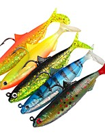 "cheap -5 pcs Fishing Tools Jig Head Shad Soft Bait g/Ounce,105 mm/4-1/4"" inch,Plastic Sea Fishing Lure Fishing"