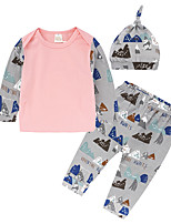 cheap -Baby Girls' Daily Going out Floral Clothing Set,Cotton All Seasons Simple Casual Long Sleeve Blushing Pink