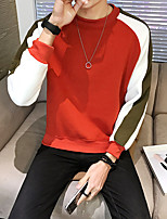 cheap -Men's Casual/Daily Sweatshirt Print Round Neck Micro-elastic Cotton Polyester Long Sleeve Fall