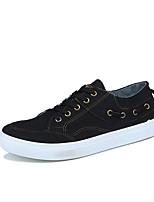 Hombre Zapatos Aterciopelado Primavera Otoño Confort Zapatos de taco bajo y Slip-On para Casual Negro Azul Oscuro Azul