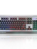 ajazz-ak27 meccanica guerriero tastiera lol internet cafe tastiera retroilluminazione cablata in metallo gioco di luci usb