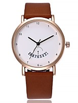 cheap -Women's Casual Watch Fashion Watch Wrist watch Chinese Quartz Calendar / date / day Large Dial Genuine Leather Band Casual Black Brown