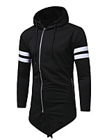 cheap -Men's Plus Size Casual/Daily Simple Hoodie Solid Hooded Hoodies Micro-elastic Cotton Long Sleeve Spring/Fall