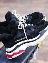 economico -Da donna Scarpe Pelle Inverno Comoda Sneakers Plateau Punta tonda per Casual Bianco Nero Grigio