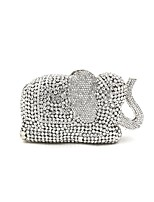 cheap -Women Bags Metal Evening Bag Crystal Detailing for Wedding Event/Party All Season Silver