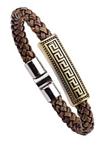 cheap -Men's Bracelet , Vintage Fashion Leather Alloy Circle Jewelry For Going out Street