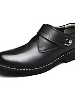 cheap -Men's Shoes Leather Winter Fall Comfort Oxfords for Casual Brown Gray Black