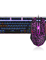 cheap -Dareu G60 Wired  Mechanical keyboard   Mouse blue Switches 1.8m seven key 1600DPI