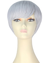 cheap -Women Synthetic Wig Short Straight Silver Lolita Wig Party Wig Halloween Wig Carnival Wig Cosplay Wig Natural Wigs Costume Wig