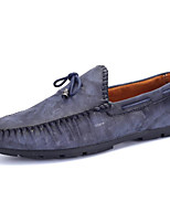 cheap -Men's Shoes PU Winter Fall Comfort Loafers & Slip-Ons for Casual Blue Brown