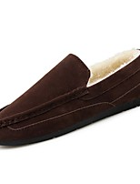 cheap -Men's Shoes PU Spring Fall Comfort Loafers & Slip-Ons for Casual Brown Gray Black