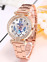 abordables -Mujer Reloj Casual Reloj de Moda Reloj de Pulsera Chino Cuarzo Reloj Casual Aleación Banda Casual Elegant Colorido Plata Dorado Oro Rosa