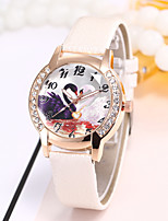 cheap -Women's Casual Watch Fashion Watch Wrist watch Chinese Quartz Casual Watch PU Band Luxury Casual Elegant Black White Blue Red Pink Purple
