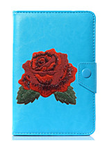 abordables -caja universal de la cubierta del soporte del cuero de la PU de la flor para 7 pulgadas 8 pulgadas 9 pulgadas tablet pc de 10 pulgadas