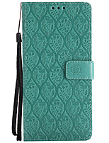 cheap -Case For Samsung Galaxy Note 8 Card Holder Wallet with Stand Flip Pattern Full Body Solid Color Lace Printing Hard PU Leather for Note 8