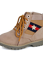 cheap -Boys' Shoes Nubuck leather Winter Fall Comfort Combat Boots Boots Booties/Ankle Boots for Casual Khaki Yellow