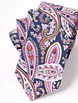 cheap -Men's Cotton Necktie,Casual Print All Seasons Purple