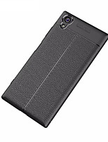 Недорогие -Кейс для Назначение Sony Xperia XA1 Ultra Матовое Рельефный Задняя крышка Сплошной цвет Мягкий TPU для Xperia XA1 Plus