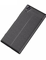 abordables -Funda Para Sony Xperia XA1 Ultra Congelada En Relieve Cubierta Trasera Color sólido Suave TPU para Xperia XA1 Plus