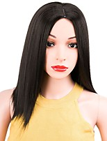 cheap -Women Synthetic Wig Short Straight Black Middle Part Bob Haircut Natural Wigs Costume Wig