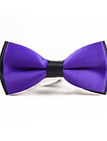 cheap -Men's Polyester Bow Tie,Simple Casual Solid Color All Seasons Purple