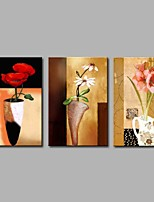 preiswerte -Handgemalte Abstrakt Modern Leinwand Hang-Ölgemälde Haus Dekoration Drei Paneele