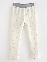 cheap -Girls' Solid Polka Dot Striped Pants,Cotton Spring, Fall, Winter, Summer White