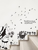 economico -Floreale/Botanical Persone Adesivi murali Adesivi aereo da parete Adesivi decorativi da parete,Carta Decorazioni per la casa Sticker