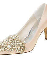 economico -Da donna Scarpe Raso elasticizzato Primavera Autunno Decolleté scarpe da sposa A stiletto Appuntite Lustrini Perle per Formale Serata e