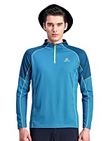 cheap -Men's Hiking Fleece Jacket Outdoor Fast Dry Windproof Top Single Slider Running/Jogging Hiking Casual Camping