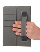 abordables -estuche de cuero macizo estampado con soporte de mano para lenvov tab3 8.0-850f 8 pulgadas tablet pc