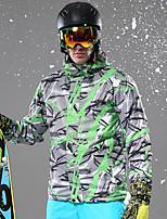 cheap -Men's Ski Jacket Warm Waterproof Windproof Wearable Breathability Snow Sports Fiber