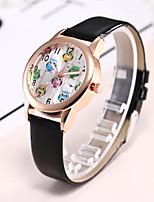 abordables -Mujer Reloj Casual Reloj de Moda Reloj de Pulsera Chino Cuarzo Reloj Casual PU Banda Lujo Casual Elegant Negro Blanco Azul Rojo Rosa