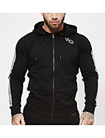cheap -Men's Sports Hoodie Solid Hooded Micro-elastic Cotton Long Sleeve Winter Fall